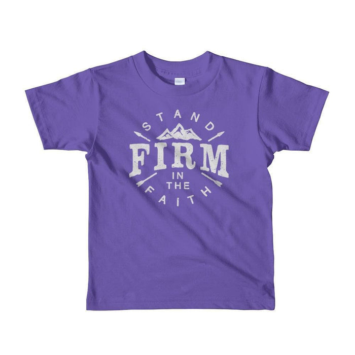 Kids Stand Firm in the Faith Christian T-Shirt - 2yrs / Purple - T-Shirts