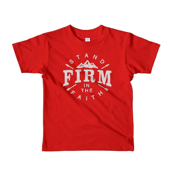 Kids Stand Firm in the Faith Christian T-Shirt - 2yrs / Red - T-Shirts
