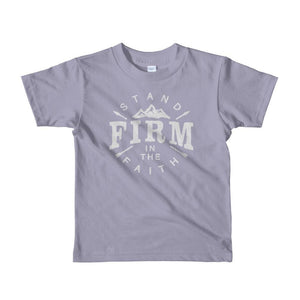 Kids Stand Firm in the Faith Christian T-Shirt - 2yrs / Slate - T-Shirts