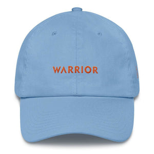 Leukemia Awareness Dad Hat with Warrior & Orange Ribbon - One-size / Carolina Blue - Hats