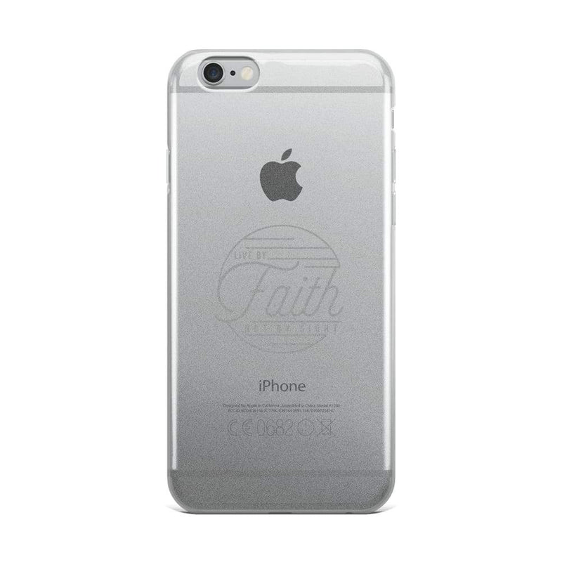 Live By Faith Christian Iphone Case - Iphone 6 Plus/6S Plus / Grey - Phone Cases