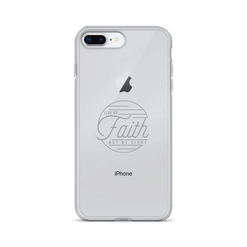 Live By Faith Christian Iphone Case - Iphone 7 Plus/8 Plus / Grey - Phone Cases