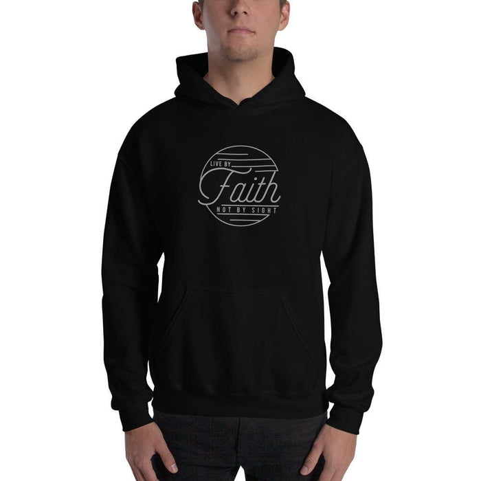 Live by Faith Not by Sight Christian Hoodie Sweatshirt - S / Black - Sweatshirts