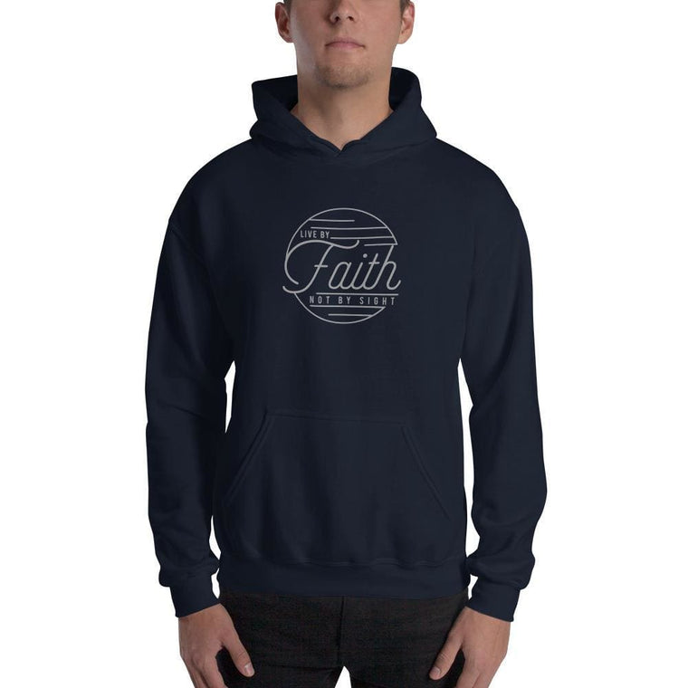 Live by Faith, Not by Sight Christian Hoodie Sweatshirt