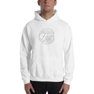 Live by Faith Not by Sight Christian Hoodie Sweatshirt - S / White - Sweatshirts