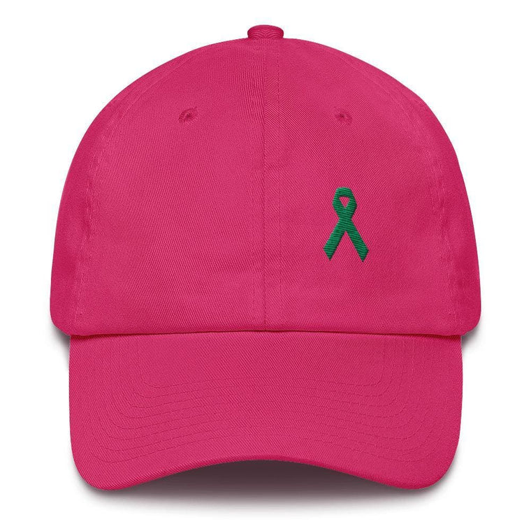 Liver Cancer & Gallbladder Cancer Awareness Dad Hat with Green  Ribbon