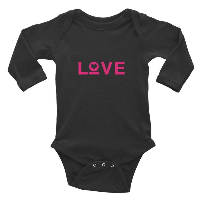Love Baby Long Sleeve Onesie - 6M / Black - Onesie