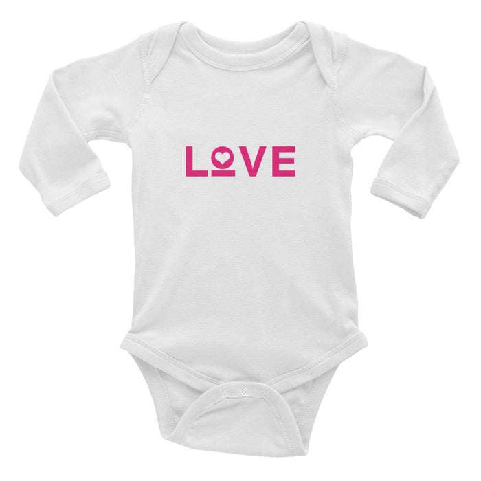 Love Baby Long Sleeve Onesie - 6M / White - Onesie