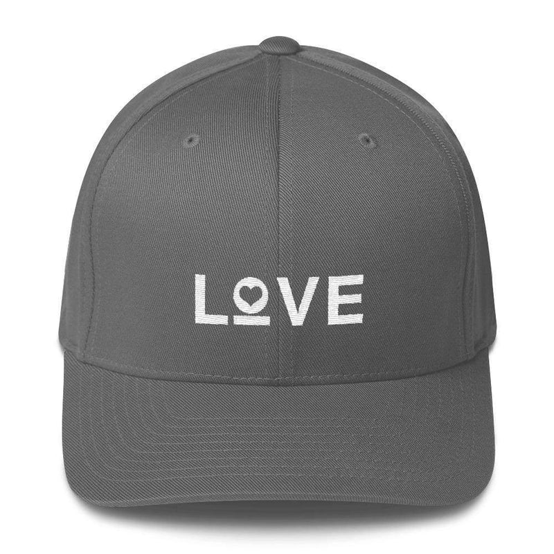 Love Fitted Flexfit Baseball Hat - S/m / Grey - Hats