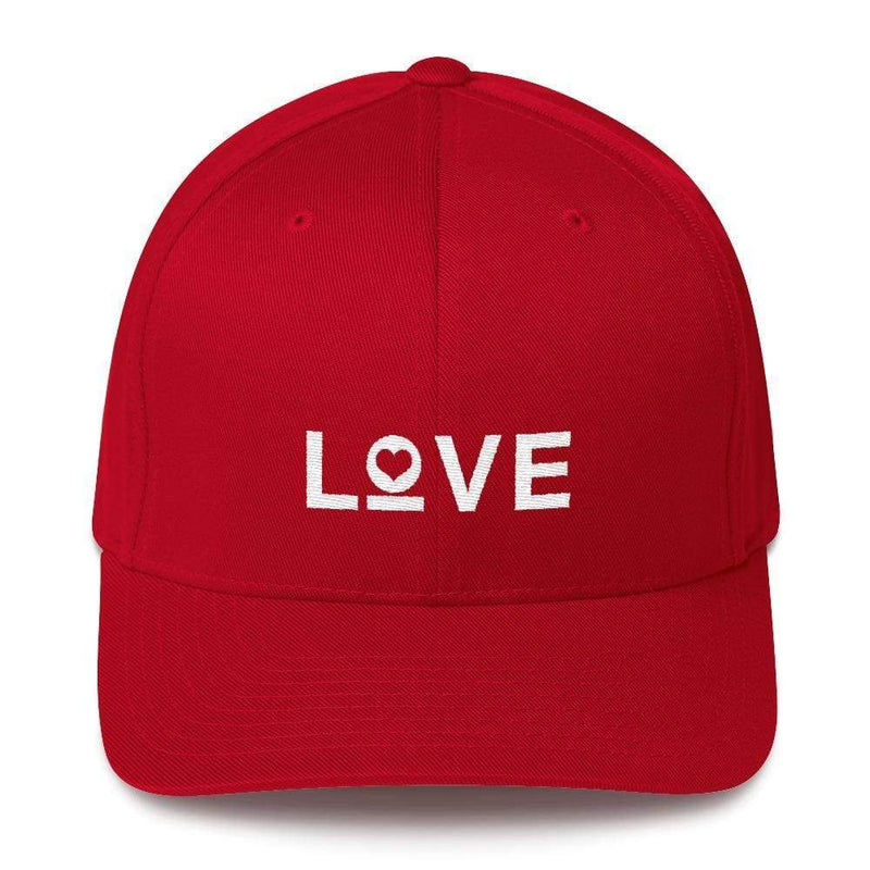 Love Fitted Flexfit Baseball Hat - S/m / Red - Hats