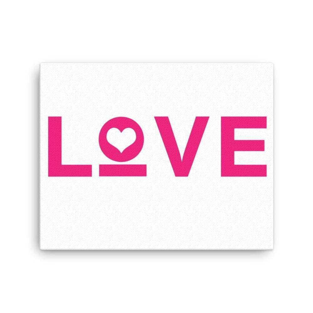 Love Heart Canvas Wall Art - 16×20 / White - Wall Art