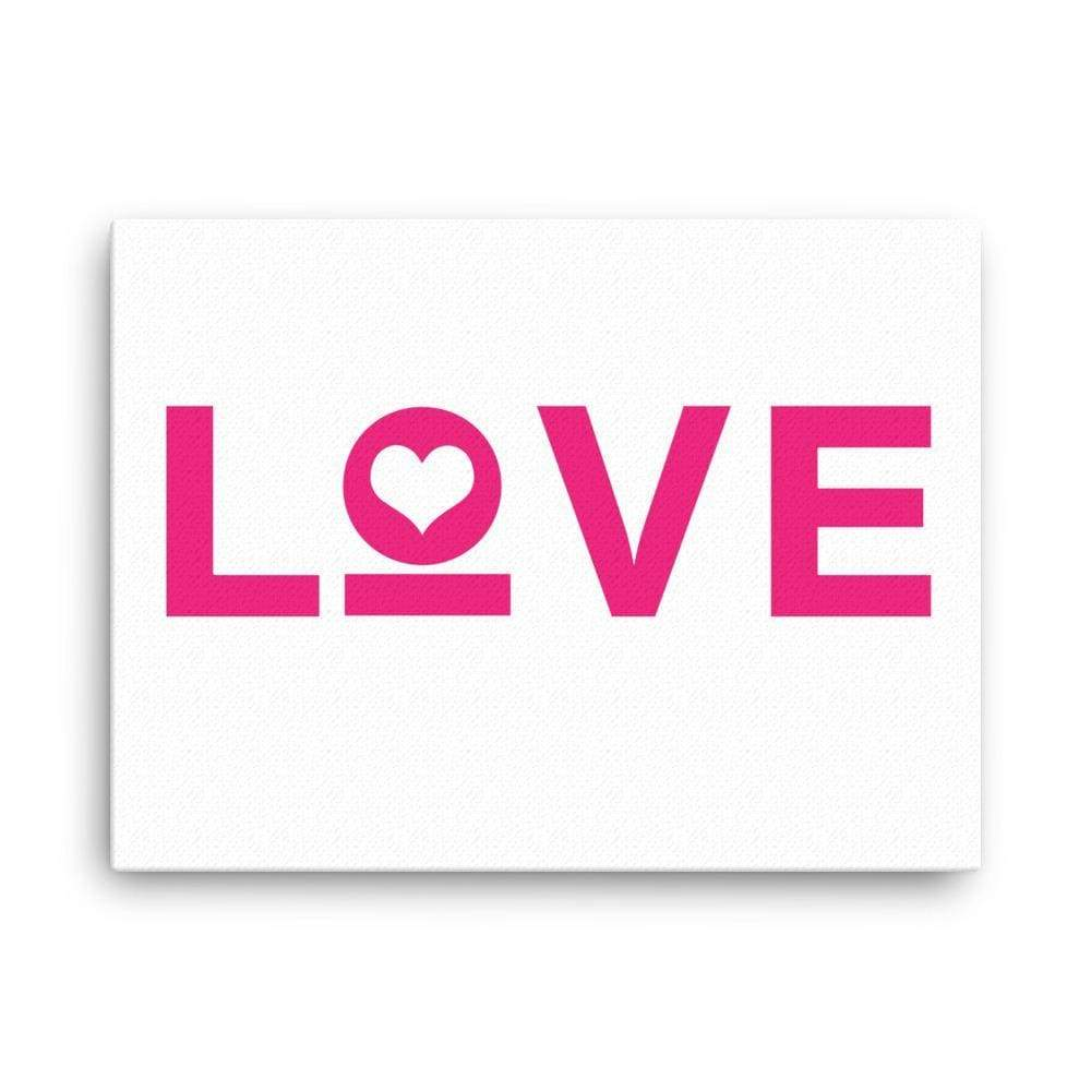 Love Heart Canvas Wall Art - 18×24 / White - Wall Art