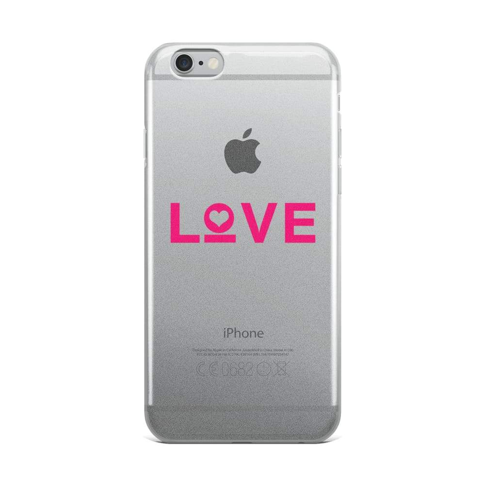 Load image into Gallery viewer, Love Iphone Case - Iphone 6 Plus/6S Plus / Pink - Phone Cases