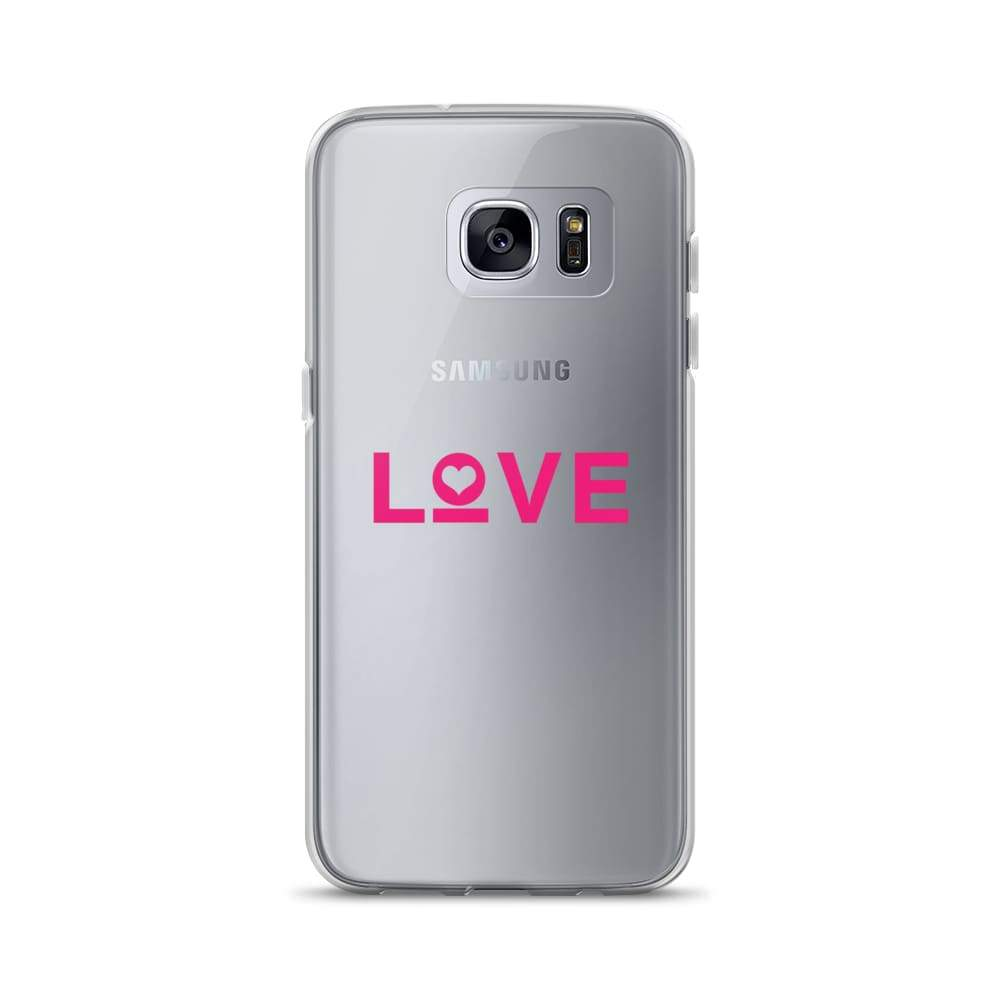 Love Samsung Galaxy Phone Case - Samsung Galaxy S7 Edge / Pink - Phone Cases