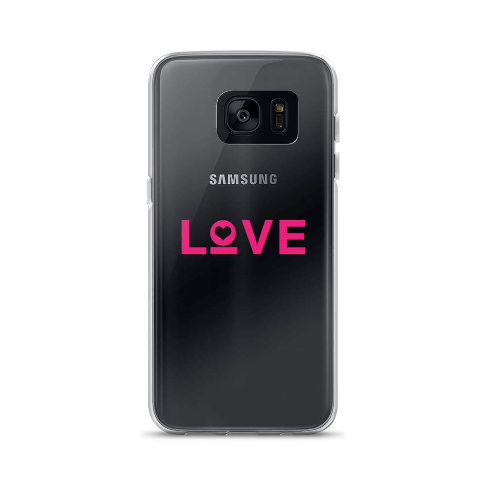 Love Samsung Galaxy Phone Case - Samsung Galaxy S7 / Pink - Phone Cases