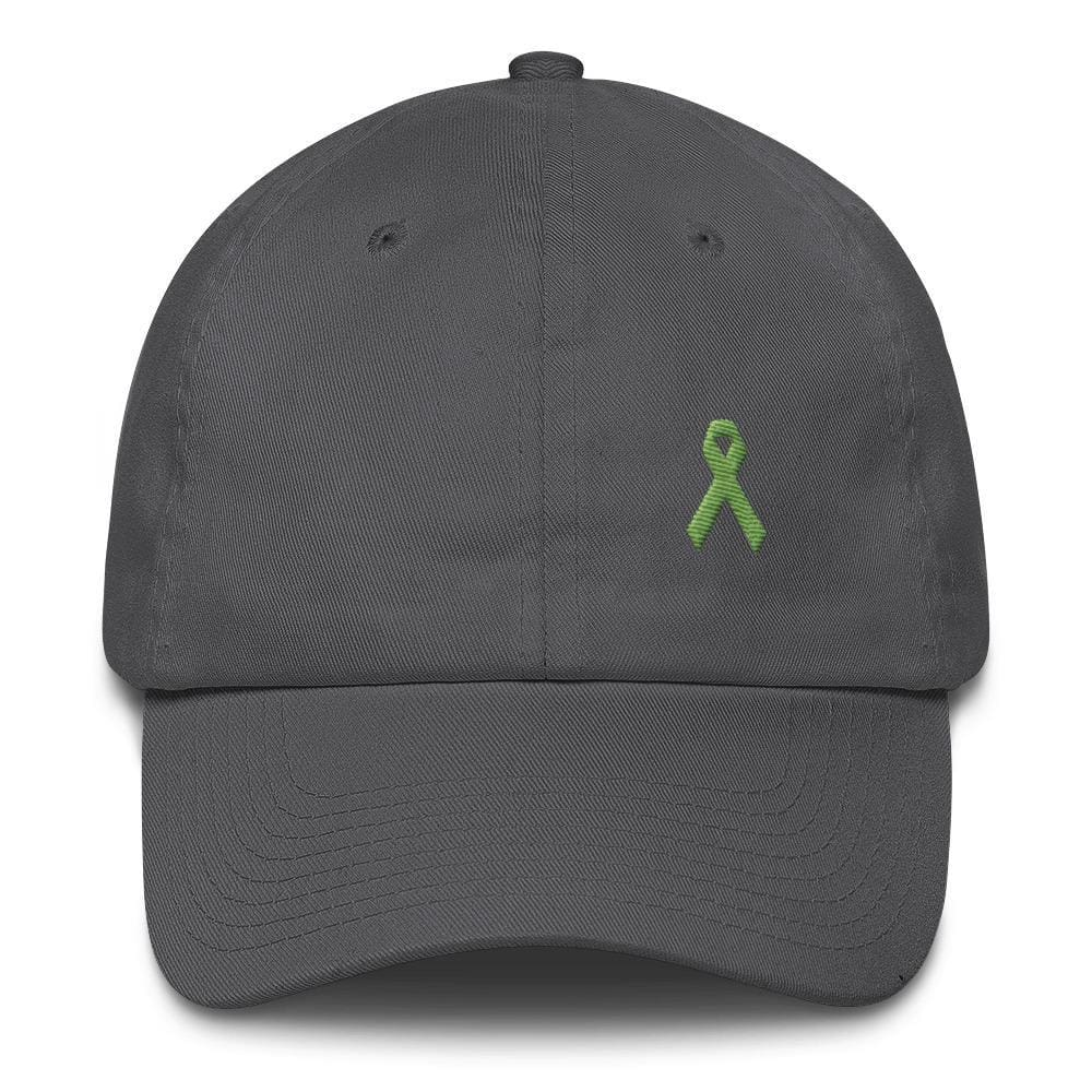 Lymphoma Awareness Adjustable Hat with Green Ribbon - Hats