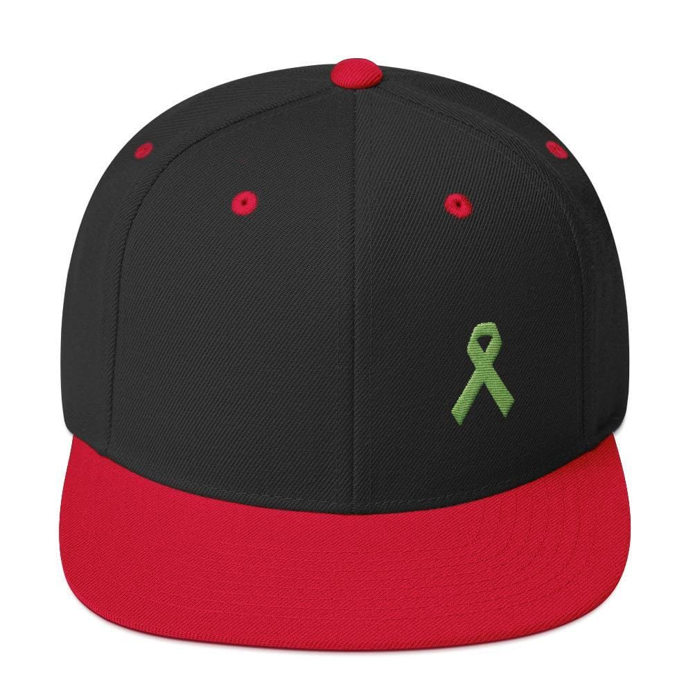 Lymphoma Awareness Snapback Hat - One-size / Black/ Red - Hats