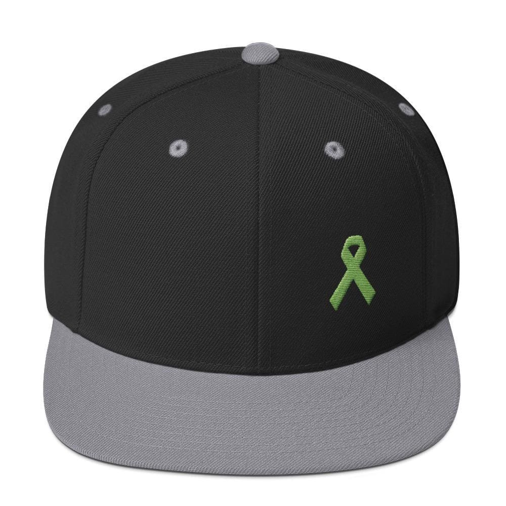 Lymphoma Awareness Snapback Hat - One-size / Black/ Silver - Hats