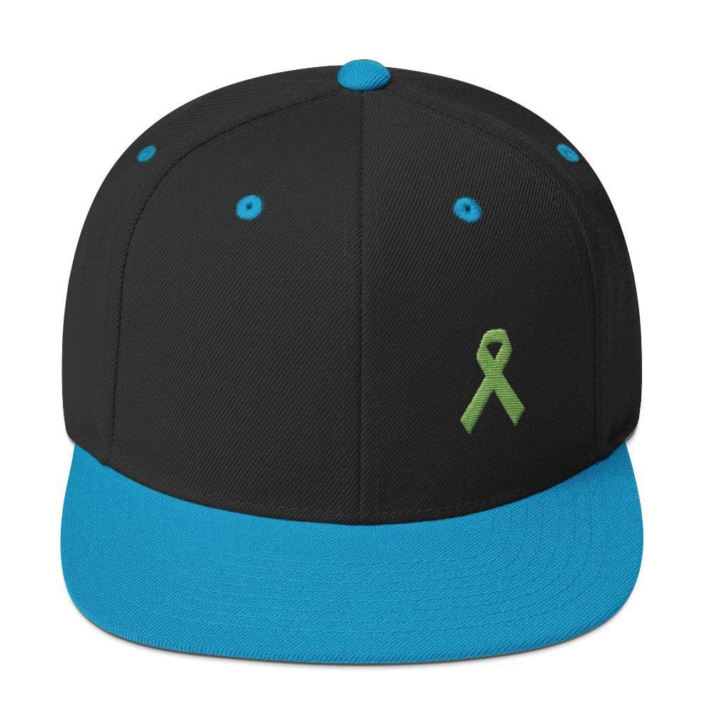 Lymphoma Awareness Snapback Hat - One-size / Black/ Teal - Hats