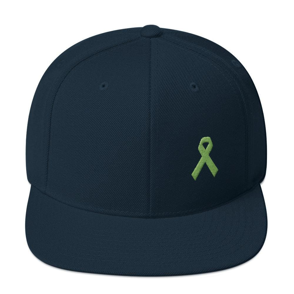 Lymphoma Awareness Snapback Hat - One-size / Dark Navy - Hats
