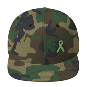 Lymphoma Awareness Snapback Hat - One-size / Green Camo - Hats