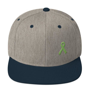 Lymphoma Awareness Snapback Hat - One-size / Heather Grey/ Navy - Hats