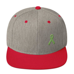 Lymphoma Awareness Snapback Hat - One-size / Heather Grey/ Red - Hats