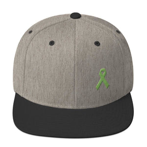 Lymphoma Awareness Snapback Hat - One-size / Heather/Black - Hats