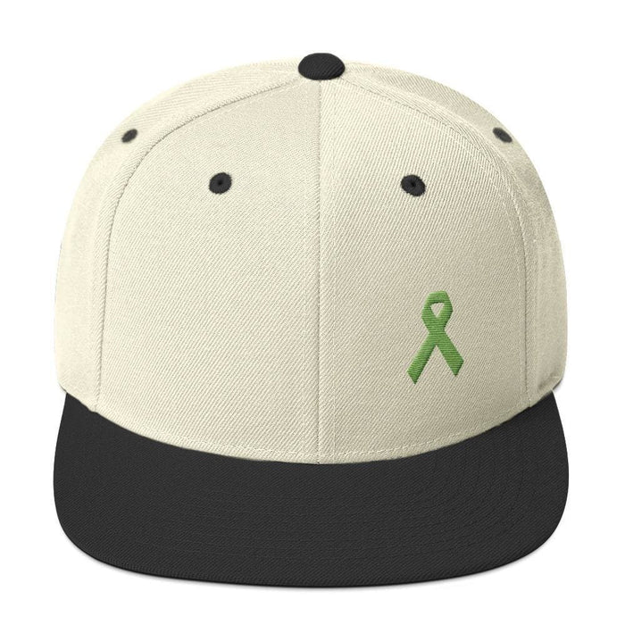 Lymphoma Awareness Snapback Hat - One-size / Natural/ Black - Hats