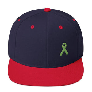 Lymphoma Awareness Snapback Hat - One-size / Navy/ Red - Hats