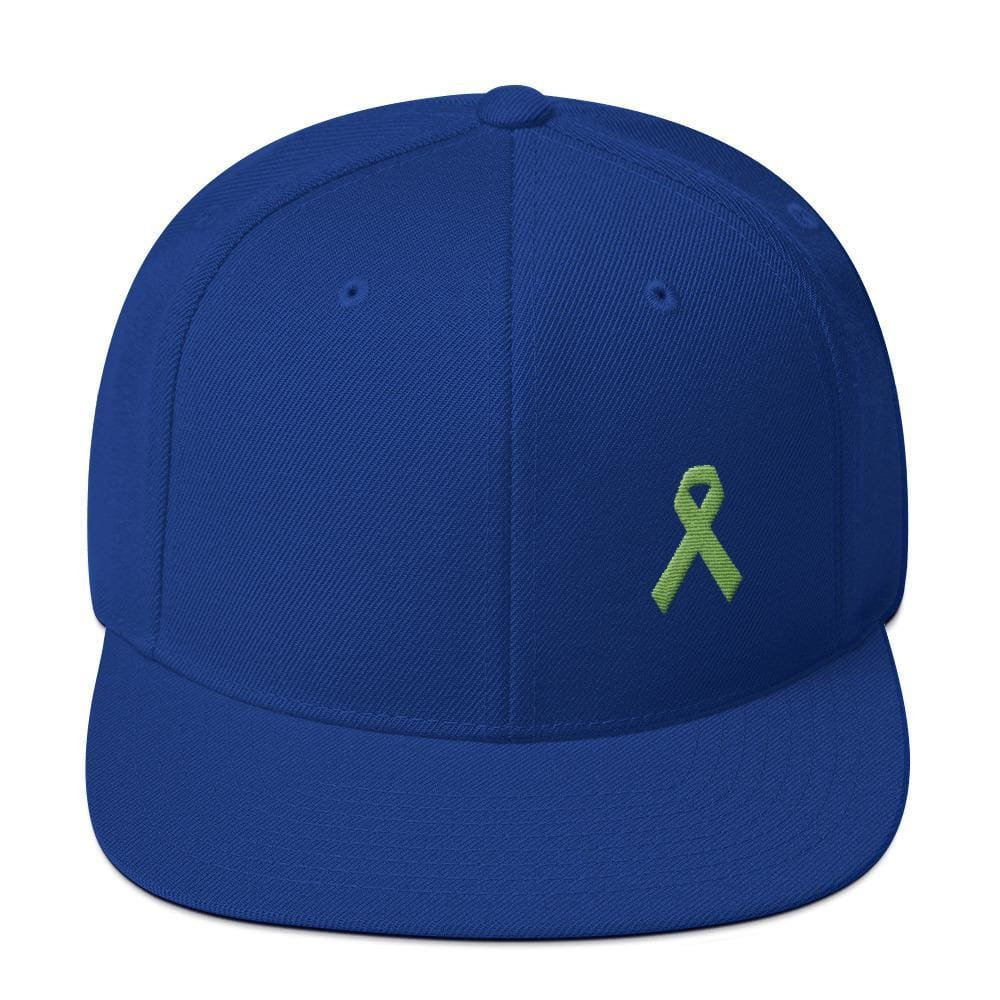 Lymphoma Awareness Snapback Hat - One-size / Royal Blue - Hats
