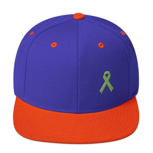 Lymphoma Awareness Snapback Hat - One-size / Royal/ Orange - Hats