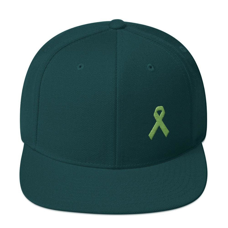 Lymphoma Awareness Snapback Hat - One-size / Spruce - Hats