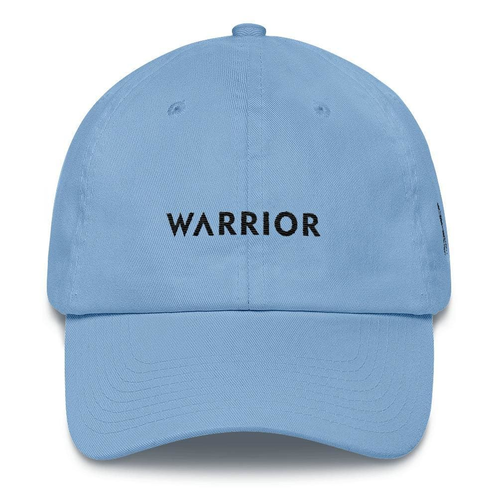 Load image into Gallery viewer, Melanoma and Skin Cancer Awareness Dad Hat with Warrior & Black Ribbon - One-size / Carolina Blue - Hats