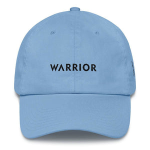 Melanoma and Skin Cancer Awareness Dad Hat with Warrior & Black Ribbon - One-size / Carolina Blue - Hats