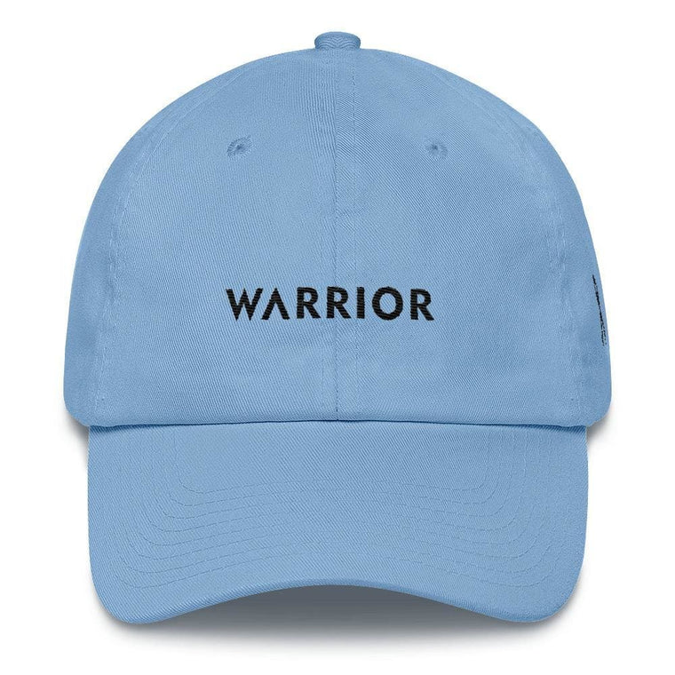 Melanoma and Skin Cancer Awareness Dad Hat with Warrior & Black Ribbon