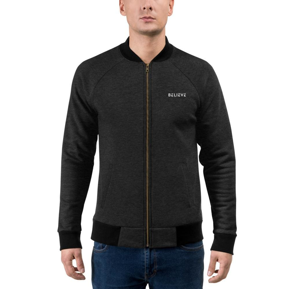 Load image into Gallery viewer, Mens Believe Bomber Jacket - Jacket