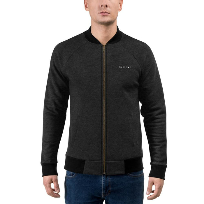 Mens Believe Bomber Jacket - Jacket