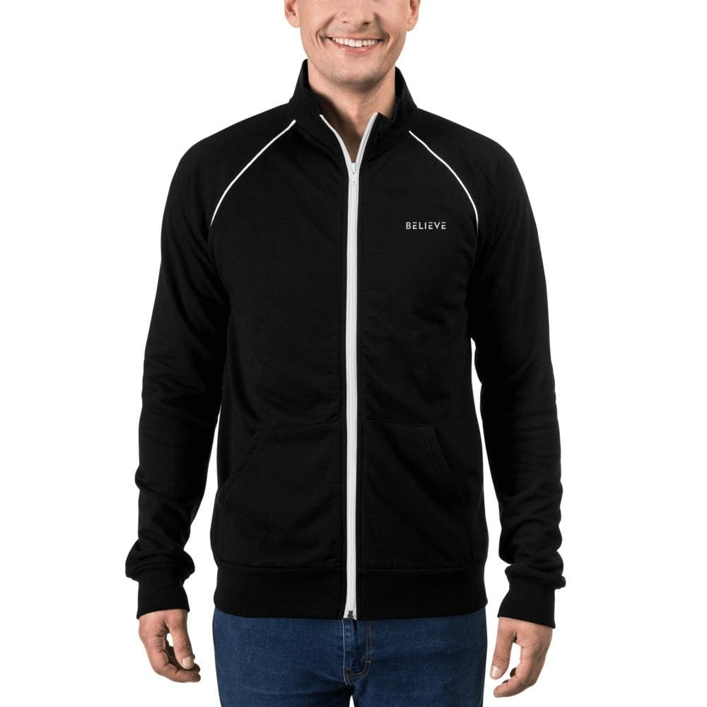 Load image into Gallery viewer, Mens Believe Piped Fleece Jacket - Jacket