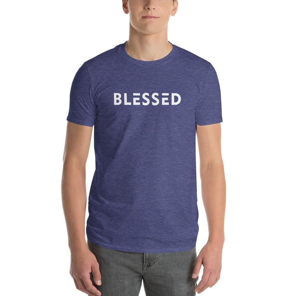 Mens Blessed T-Shirt - S / Heather Blue - T-Shirts