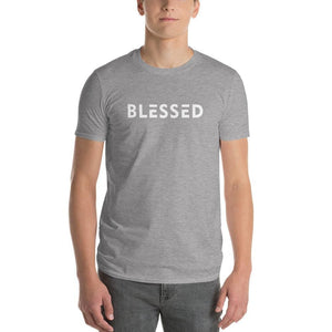 Mens Blessed T-Shirt - S / Heather Grey - T-Shirts