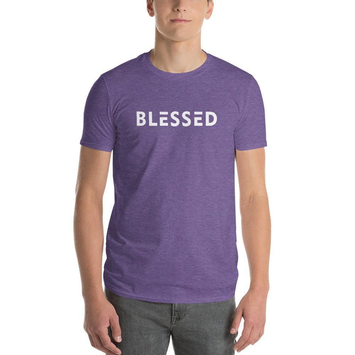 Mens Blessed T-Shirt - S / Heather Purple - T-Shirts
