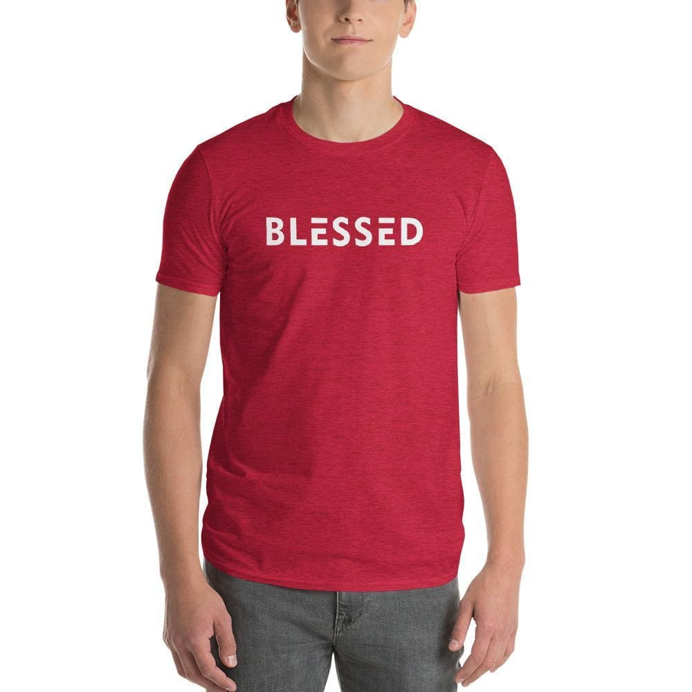 Mens Blessed T-Shirt - S / Heather Red - T-Shirts