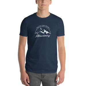 Mens Faith Can Move Mountains T-Shirt - S / Lake - T-Shirts