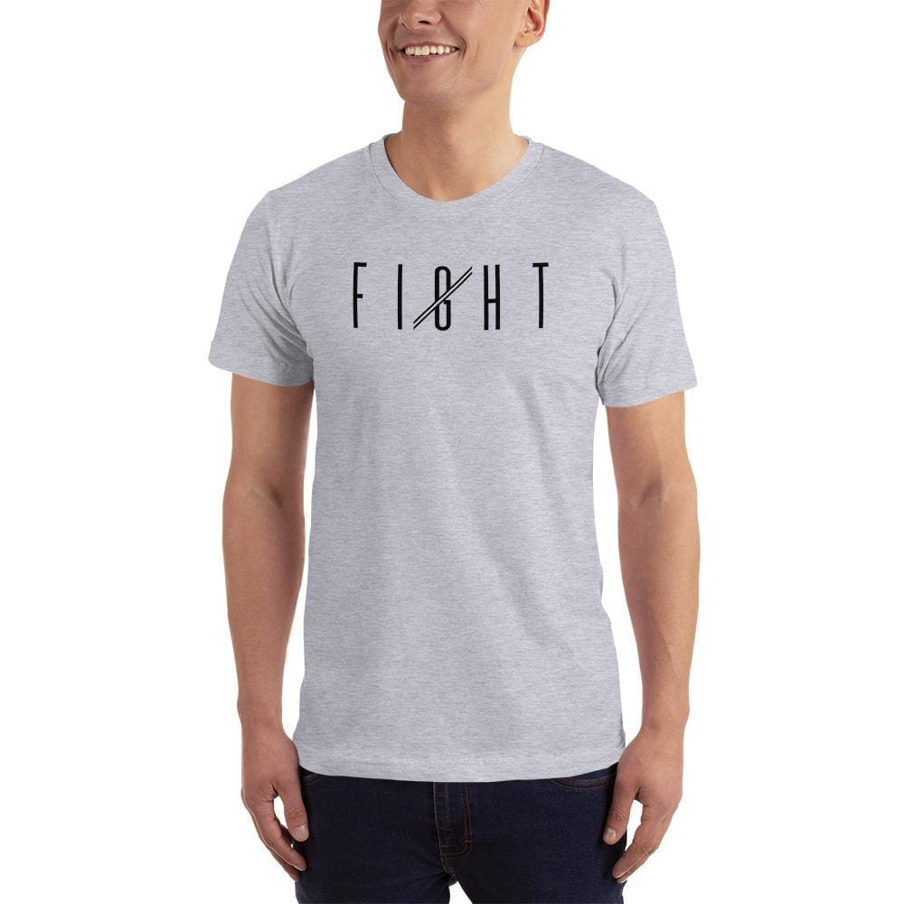 Mens Fight T-Shirt - XS / Heather Grey - T-Shirts