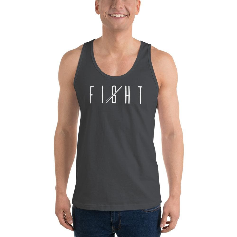 Load image into Gallery viewer, Mens Fight Tank Top - XS / Asphalt - Tank Tops