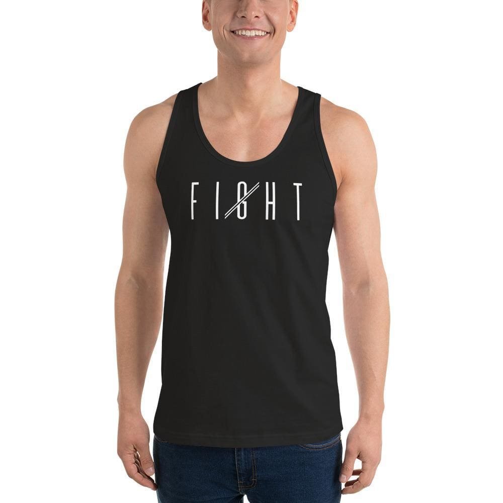 Load image into Gallery viewer, Mens Fight Tank Top - XS / Black - Tank Tops