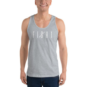 Load image into Gallery viewer, Mens Fight Tank Top - XS / Heather Grey - Tank Tops