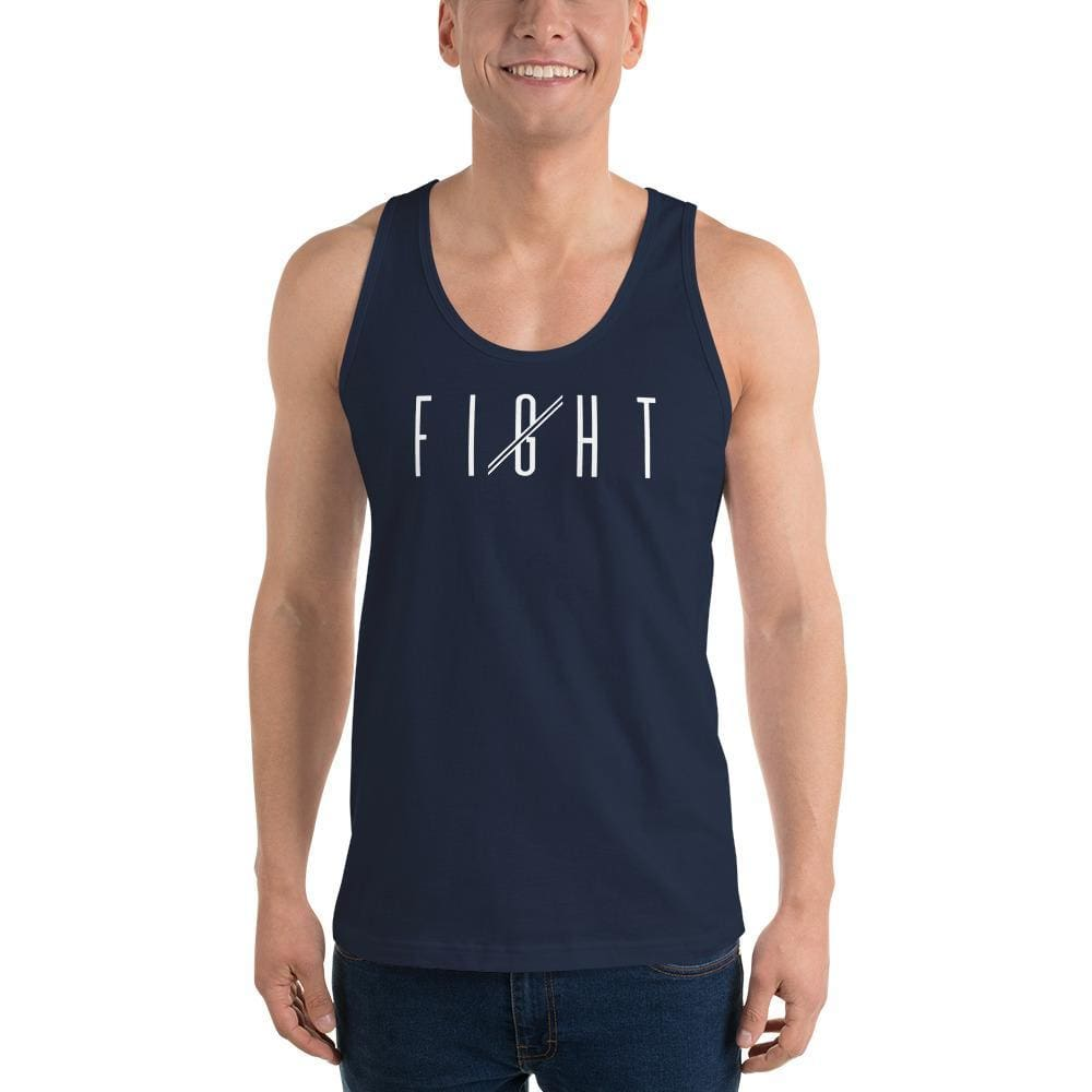 Load image into Gallery viewer, Mens Fight Tank Top - XS / Navy - Tank Tops