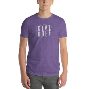 Mens Give Hope T-Shirt - S / Heather Purple - T-Shirts